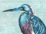 "1615 Tri-Colored (Louisiana) Heron 18 Mesh - 7"" x 5""  Needle Crossings"