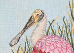 "1604 Roseate Spoonbill 18 Mesh - 7"" x 5"" Needle Crossings"