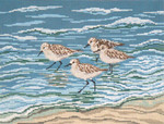 "2622 Sanderlings in the Surf 13 Mesh - 14"" x 10""  Needle Crossings"