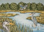 """2621 Blue Heron Trilogy 13 Mesh - 14"""" x 10"""" Needle Crossings"""
