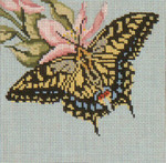 """1502 Anise Swallowtail 18 Mesh - 5"""" Square Needle Crossings"""