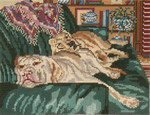 "901 Dog Tired 18 Mesh - 8"" x 6""  Needle Crossings"