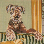 "903 Airedale Terrior 18 Mesh - 5"" x 5""   Needle Crossings"