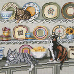 "3134 China Cats 13 Mesh - 9"" x 9"" Needle Crossings"