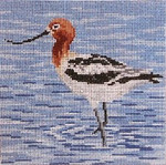 "1640  American Avocet 18 Mesh - 5"" Square Needle Crossings"