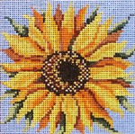 "246 Sunny Flower 13 Mesh - 5"" Square Needle Crossings"