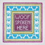 """44 Woof  Spoken Here 13 Mesh - 6-1/2"""" Square Needle Crossings"""