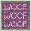 "43 Woof,  Woof 13 Mesh - 6-1/2"" Square Needle Crossings"