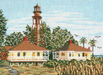 "112 Sanibel Island Lighthouse (FL) 18 Mesh - 7"" x 5""  Needle Crossings"