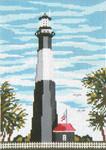 """#132 Tybee Island Lthse. (GA) 18 Mesh - 5"""" x 7"""" Needle Crossingsn"""