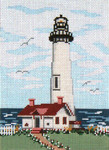 "125 Pigeon Point Lt. (CA) 18 Mesh - 5"" x 7""  Needle Crossings"