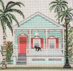 """825-13 Key West Bungalow (Key West, FL) 13 Mesh - 8"""" x 8"""" Needle Crossings"""