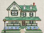 "827-13 Jacob Leaming House (Cape May, NJ) 13 Mesh -9-1/2"" x 7""  Needle Crossings"