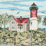 "120-13 Nauset Light (MA) 13 Mesh - 7"" x 7""  Needle Crossings"