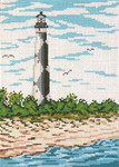 "#134 Cape Lookout Lt. (NC) 18 Mesh - 5"" x 7"" Needle Crossingsn"