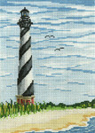 "1209 Cape Hatteras Lt. (NC) 18 Mesh - 5"" x 7""  Needle Crossings"