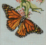 """1501-13 Monarch Butterfly 13 Mesh - 7"""" Square  Needle Crossings"""