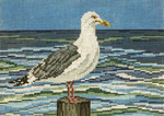 "1617-13 Lone Gull 13 Mesh - 9-1/2"" x 7""  Needle Crossings"