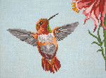 "1620-13 Rufous Hummingbird 13 Mesh - 9-1/2"" x 7""  Needle Crossings"