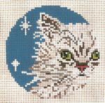 "1732-13 Persian Cat Ornament 13 Mesh - 4"" Round Needle Crossings"
