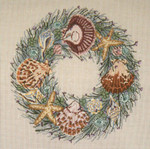 "2105-13 Seashell Wreath 13 Mesh - 12"" x 12"" Needle Crossings"