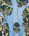 AS749 Raccoon Gaze 9x11 13m Birds Of A Feather