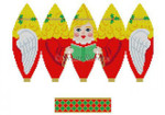"5281 Angel, 3D Hot Air Balloon, blonde, ornament #18 Mesh 6"" h Susan Roberts Needlepoint"