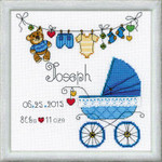 "RL1418 Riolis Cross Stitch Kit It's a Boyl 7"" x 7""; Lugana; 28ct"
