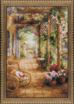 "RL100043 Riolis Cross Stitch Kit A Secret Romance 16"" x 24""; White Aida; 14ct"