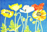 WH1268SKU Lee's Needle Arts Poppies Hand-painted canvas - 13 Mesh 16X11