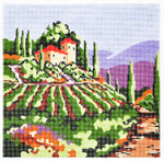 WH1295SKU Lee's Needle Arts Tuscan Vineyard # 1 Hand-painted canvas - 13 Mesh 10X10