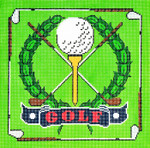 P1201 Lee's Needle Arts Golf Hand-painted canvas - 13 Mesh 10X10