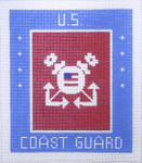 AO1320SKU Lee's Needle Arts Coast Guard Hand-painted canvas 6x7k 18M