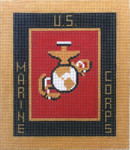 AO1316SKU Lee's Needle Arts Marine Corp Hand-painted canvas 6x7k 18M