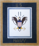 AO1318SKU Lee's Needle Arts  Navy Hand-painted canvas 6x7k 18M