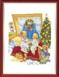 "7714205 Eva Rosenstand Kit Santa Lookout 12"" x 16""; Linen; 25ct"