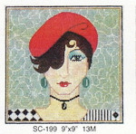 SC-199 Lady Red Hat Sophia Designs