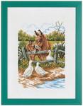 "7714170 Eva Rosenstand Kit Donkey 12"" x 16""; Linen; 25ct"