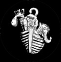 JNC03 Joyous Ark Charm Ant. Gold Just Nan Designs