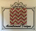 Chevron pink Monster MAGNET Accoutrement Designs
