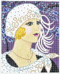 WH1191SKU Lee's Needle Arts  Girl With White Hat Hand-painted canvas - 13 Mesh 8X10