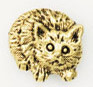 JNC17 Cat Bead Ant. Gold Just Nan Designs
