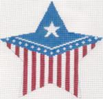 284 Flag Star Ornament5.5 x 5.2518 Mesh Silver Needle Designs