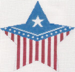 285	Flag Star Pillow	9.75 x 9.5 13 Mesh Silver Needle Designs