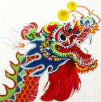 P1265SKU Lee's Needle Arts Multicolor Dragon 13M 12in x 12in