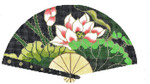 F744SSKU Lee's Needle Arts Lotus Hand-Painted Canvas 10in x 5.5in, 18m