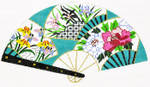 F751SSKU Lee's Needle Arts Three Fans Hand-Painted Canvas 10in x 5.5in, 18m