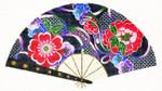 F771SSKU Lee's Needle Arts Floral On Navy Hand-Painted Canvas 10in x 5.5in, 18m
