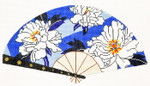 F789SSKU Lee's Needle Arts Peony On Periwinkle Hand-Painted Canvas 10in x 5.5in, 18m