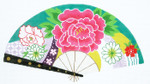 F795SKU Lee's Needle Arts Bouquet on Teal Fan 18M 2013 10in. x 5.5in.